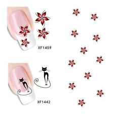 2Sheet/New Fashion Trend Beautifully Beautiful DIY Nail Stickers XF1459+1442