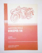 Operation manual for Dnepr (MT-16) in English