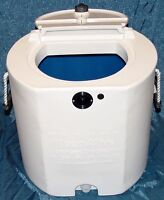 Keepalive 500 aerator with 20 Gallon Live well Tank White & Blue   Bait Tank