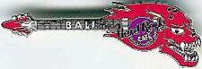 Hard Rock Cafe BALI 2000 HALLOWEEN PIN Demon Head Guitar Flaming SCARY!