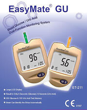 Blood Glucose Monitor Kit - Also URIC ACID - NEW ITEM - RRP $129.95 - EasyMate