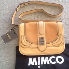 MIMCO Mustard Leather Journey Day Bag BNWOT
