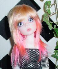 "Doll Wig, Monique Gold ""Jojo"" Size 8/9 Golden Blonde w Pink"