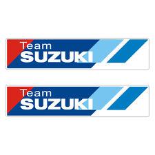 2 Stickers plastifiés TEAM SUZUKI GSR GSX-R Bandit SV - 2,5cm x 12cm