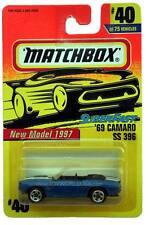 1997 Matchbox #40 New Model Superfast 1969 Camaro SS 396