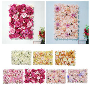 Artificial Silk Flowers Wall Panel Wedding Photography Party Floral Backdrop