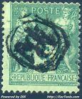FRANCE SAGE N°75 CACHET JOUR DE L'AN ENCERCLE N° 101 + R DE RECOMMANDE