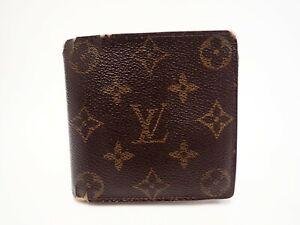 LOUIS VUITTON Monogram Wallet Bi-fold M61675 Marco Men's Vintage