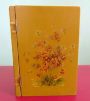 Decoupage Wooden Book Shaped Box