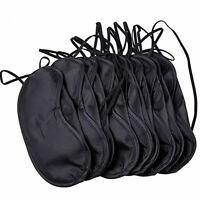KE_ 10Pcs Sleep Eye Mask Shade Cover Blindfold Night Sleeping Travel Aid Splen
