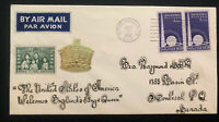 1939 Royal Train RP USA First Day Cover FDC King George VI Royal Visit To Canada