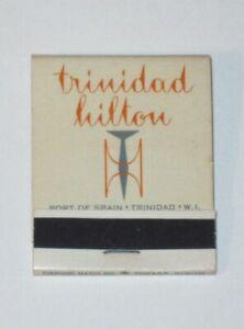 Vintage TRINIDAD HILTON Caribbean Hotel DIAMOND Matchbook! FRONT Strike! UNUSED!