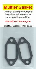 3W 80 B2 Twin Exhaust/Muffler Gasket 2 Pack NIP