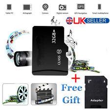 32GB 32G Class 10 SD Card High Speed + SD Adapter Flash Memory Card UK NEW