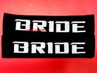 2x Bride Racing Logo Embroidered Car SeatBelt Seat belt Shoulder Cover Pads pair