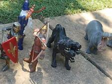 12 x Schleich figures dragons, wizards, knights n things