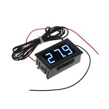 DC5-12V Digital Thermometer Refrigerator Temperature Detector with Probe Blue SI