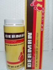 1 DERMAN POWDER 2.82 OZ & 1 DERMAN CREAM 1.76 OZ ANTIFUNGAL 03/2020  NEW SEALED