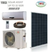 YMGI 18000 BTU Solar Assist Ductless Mini Split Air Conditioner heat pump SLK