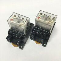 Lot of 2 Allen Bradley 700-HF34Z24-4 Control Relays, 24VDC Coil, 12 Amp, 4PDT
