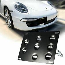 Bumper Tow Hook License Plate Mount Bracket For Porsche 911 Carrea 991 2014-2018