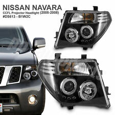 Nissan Navara D40 2005 06 07 08 09 10 CCFL Angel-Eye Projector HEADLIGHT LAMP BK