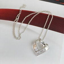1PC Unique Women Twisted Ruler Heart Shaped Pendant Long Chain Necklace Jewelry