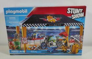 Playmobil Stuntshow 70552 Workshop Tent Stunt Show New Sealed 49Pc Playset