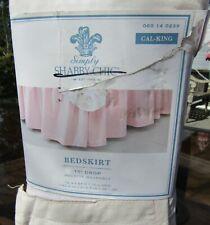 Simply Shabby Chic Rachel Ashwell Pink California Cal-King Size Bed Skirt NIP