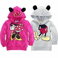 Mädchen Jungen Kinder Mickey Kapuzenpullover Sweatshirt Hoodie Pulli Mantel Tops