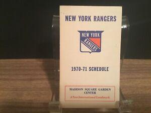 1970-71 New York Rangers schedule