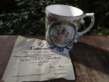 1984 Prince Harry of Wales Birth Caverswall China Mug Limited Edition