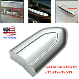 For Cadillac ATS CTS CT6 XTS 1x Door Lock Cylinder Cover Cap Primed Chrome Cover