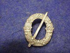 Swedish WW2 Skiing ski award stick pin badge silver  Army Military Sweden