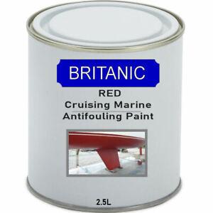 Britanic Cruising Marine Antifouling Paint - Red - 2.5 Litres
