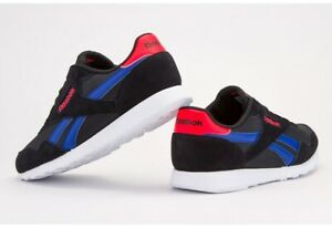 Reebok Royal Ultra Mens Uk 10 Great Used Condition, Black, Blue, White, Red
