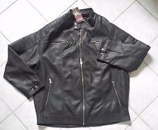 Neu Lederjacke Kunstlederjacke Gr. XXXL 64/66 Biker Jacke