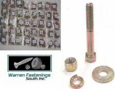 Assortment Kit Grade 8 Bolt Nut Flat Amp Lock Washers 1496 Pieces Zinc Yellow