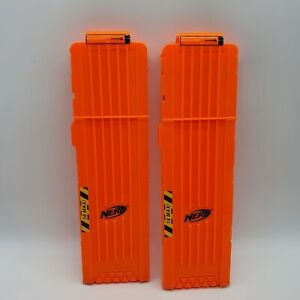 Nerf N-strike Elite 18 Dart Magazine X 2 bundle, clips - Orange 2009 Clip system