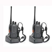 2x BF-888S UHF 400-470 MHz 5W CTCSS Two-way Ham Radio 16CH Walkie Talkie Popular