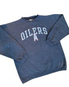 Vintage Pro Layer NFL Tennessee Oilers Mens Size Large Long Sleeve Blue Pullover