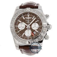 Breitling Chronomat 44 GMT AB042011/Q589 Auto 44mm Steel Mens Strap Watch Chrono