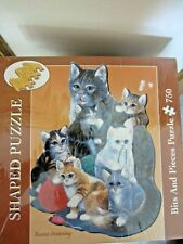 Shaped Cats w/Yarn 750-Piece Jigsaw Puzzle by Ruane Manning - Bits & Pieces NEW!