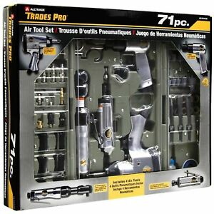 Trades Pro 71 Piece Air Tool and Accessories Kit with Storage Case, 836668+