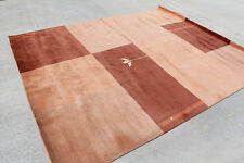 R10383 Contemporary Handcrafted Tibetan Woolen Area Rug 8 x 10' Made in Nepal