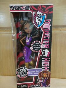 Monster High Doll Clawdeen Wolf Music Festival 2012 - BNIB