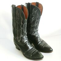 LUCCHESE 2000 Black Cowhide Leather Cowgirl Boots, T3522R4 Women's 8 B *READ*