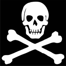 Skull and Cross Bones Decal / Sticker - Choose Color & Size - Jolly Roger Pirate