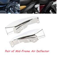 Mid-Frame Air Heat Deflector Trim Accents Shield Für Harley Touring Street Glide