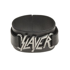 OFFICIAL Slayer Leather Bracelet By Alchemy Gothic | Men's Ladies Wriststrap